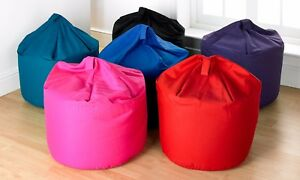 Kids-Childrens-Large-amp-Extra-Large-100-Cotton-Drill-Plain-Bean-Bag-Chair-Seats