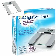 WEIGHT WATCHERS GLASS ELECTRONIC DIGITAL LCD BODY FAT ANALYSER WEIGHING SCALES