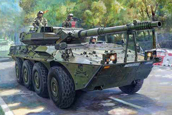 00388 Trumpeter 1 35 Model Spanish Army VRC-105 Centauro RCV Tank Vehicle