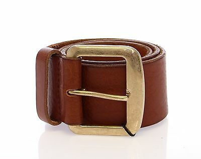 NWT $300 DOLCE & GABBANA D&G Brown Leather Logo Belt Cintura s.65cm / 26 inch