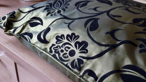 """Twin Pack de luxe en relief floral satin floqué Housse de coussin 17/""""x17/"""" 6 Couleurs"""