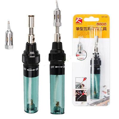 Gas Blow Torch Soldering Solder Iron Gun Butane Cordless Welding Pen Burner 8ml
