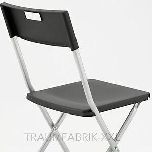 ikea gunde balkonstuhl schwarz klappstuhl g stestuhl besucherstuhl balkonstuhl ebay. Black Bedroom Furniture Sets. Home Design Ideas