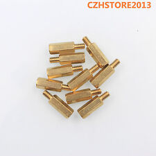 20pcs M4*15+6 Female to Male Metal Nut Screw Brass Standoff Spacer For PCB Mount