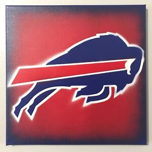 Buffalo Bills Logo Stencil Painting 12 X 12 Canvas Ebay