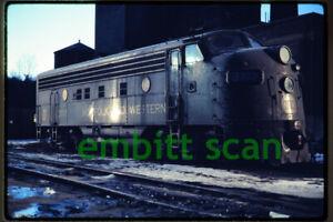Original Slide, N&W Norfolk & Western EMD F7A #3717 Night View 1971 Bethlehem PA