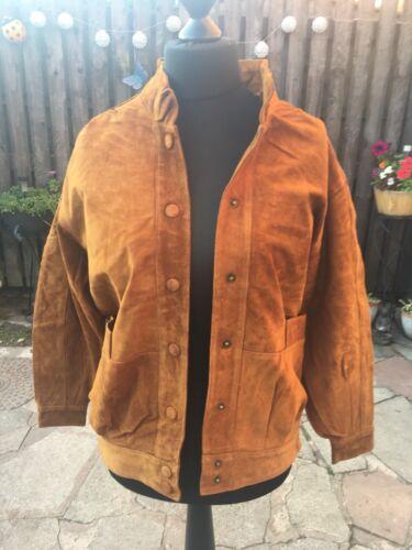 BNWT Womens  ladies Milan Leather  Suede Jacket Size/'s 10 /& 12 Retro