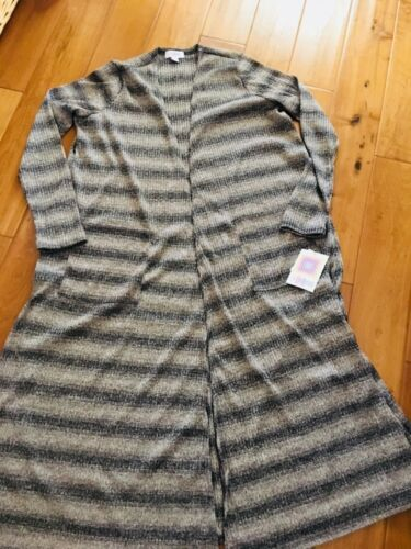 Ny Ombre Medium Sarah Pattern Sweater Lularoe Tan Brun Sort w6fAFAqS8