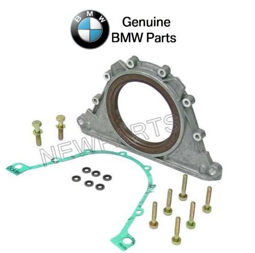 For BMW E31 E34 E38 E52 E53 Rear Crankshaft Seal w// Bolts /& Gasket Kit Genuine