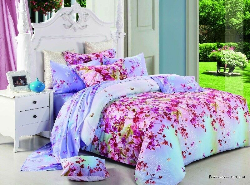 4 Pieces 100% Cotton , (quilt cover ,fitted sheet) Kit, Thousand Charms ,