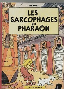 PASTICHE-Tintin-Les-sarcophages-du-Pharaon-Album-cartonne-26-pages-N-amp-Blanc