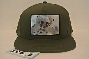 369710b2c92 NEW SUPREME ASTRONAUT HOLOGRAM 5 PANEL OLIVE SNAPBACK FW16 BOX LOGO ...