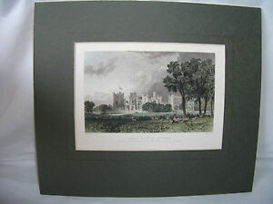Antique Engraving of Raby Castle Durham in circa 1830s  Ref 1188 - Preston, United Kingdom - Antique Engraving of Raby Castle Durham in circa 1830s  Ref 1188 - Preston, United Kingdom