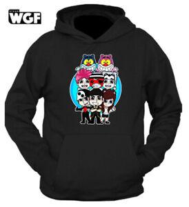 Felpa TEAM WGF v.2 LYON YOUTUBER Unisex con cappuccio invernale t-shirt maglia