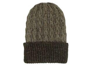 90312e5aa Details about Reversible Cable Winter Hat Beanie Unisex 100% Alpaca Cap  Assorted Colors Lid