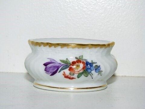 Porcelæn, Fuld Saksisk Blomst  Ovalt saltkar fra...,