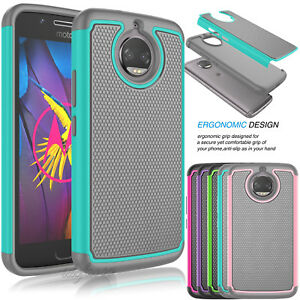 newest 1fa69 d9dc2 Details about For Motorola Moto G5S / G5S Plus Rubber Shockproof Armor  Hybrid Hard Case Cover