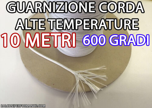10 metre rope Thermal High temperatures Padded Stove diameters 1 1.5 and 2 MM