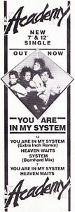 Academy  You Are In My System Single Advert 11x4 - Peterborough, United Kingdom - Academy  You Are In My System Single Advert 11x4 - Peterborough, United Kingdom