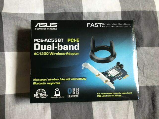 ASUS PCE-AC55BT B1 AC1200 Dual-Band Wireless Bluetooth 4.2 PCIe / MPCIe Adapter