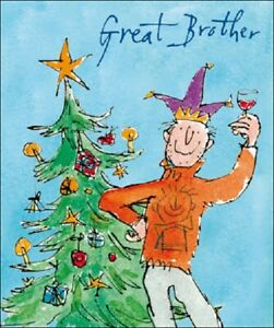 Great Brother Quentin Blake Christmas Card Individual Xmas Cards Ebay