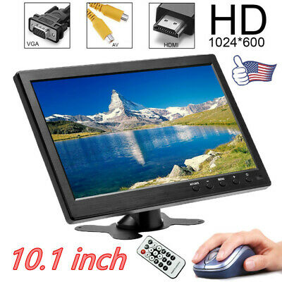 10.1/'/' HD 1024x600 TFT LCD Screen Car Monitor 1080P PC Screen AV VGA HDMI  BE