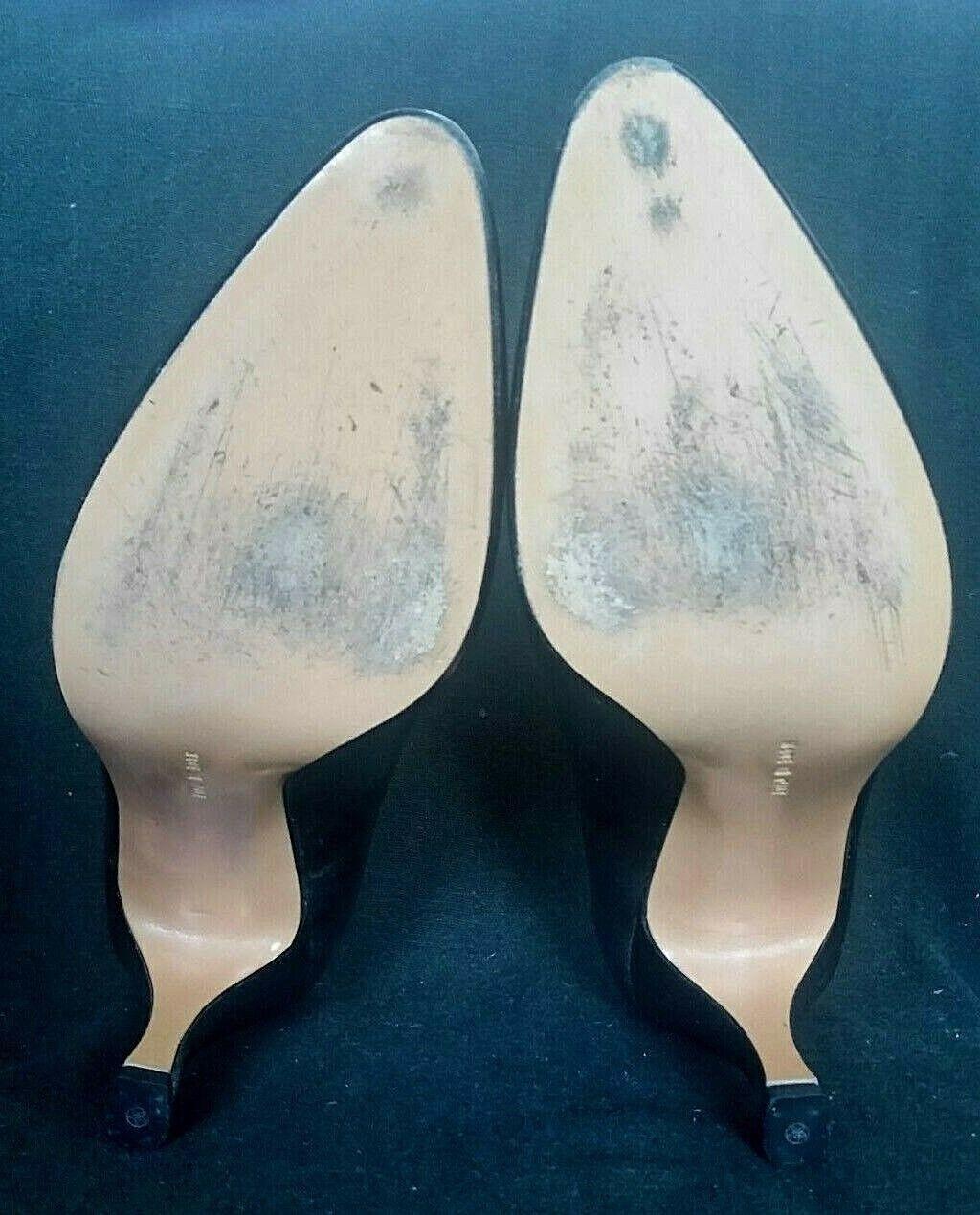 Ferragamo Metallic Metallic Metallic Silber Leather Classic Pumps Heels  Pre Owned EXCELLENT 2fda6b