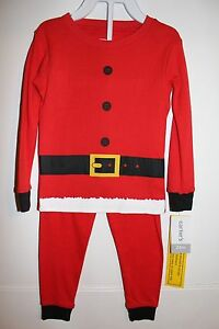 15bb81e33d84 NWT CARTER S BABY BOY 2 PC SANTA CLAUS CHRISTMAS PAJAMAS RED 6 12 24 ...