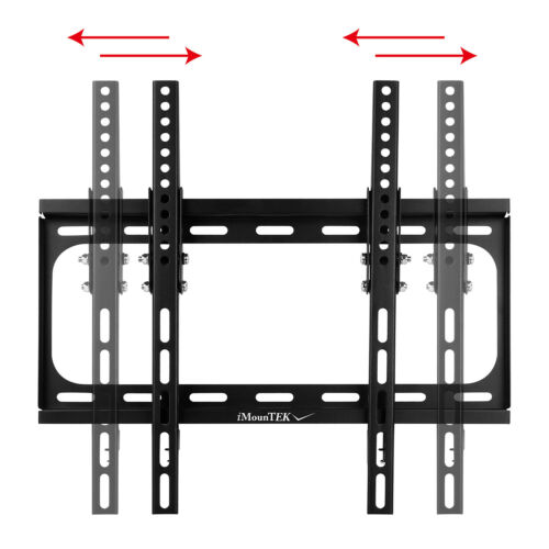 "SLIM LCD LED PLASMA FLAT TILT TV WALL MOUNT BRACKET 32 37 42 46 47 50 55/"" Inch"