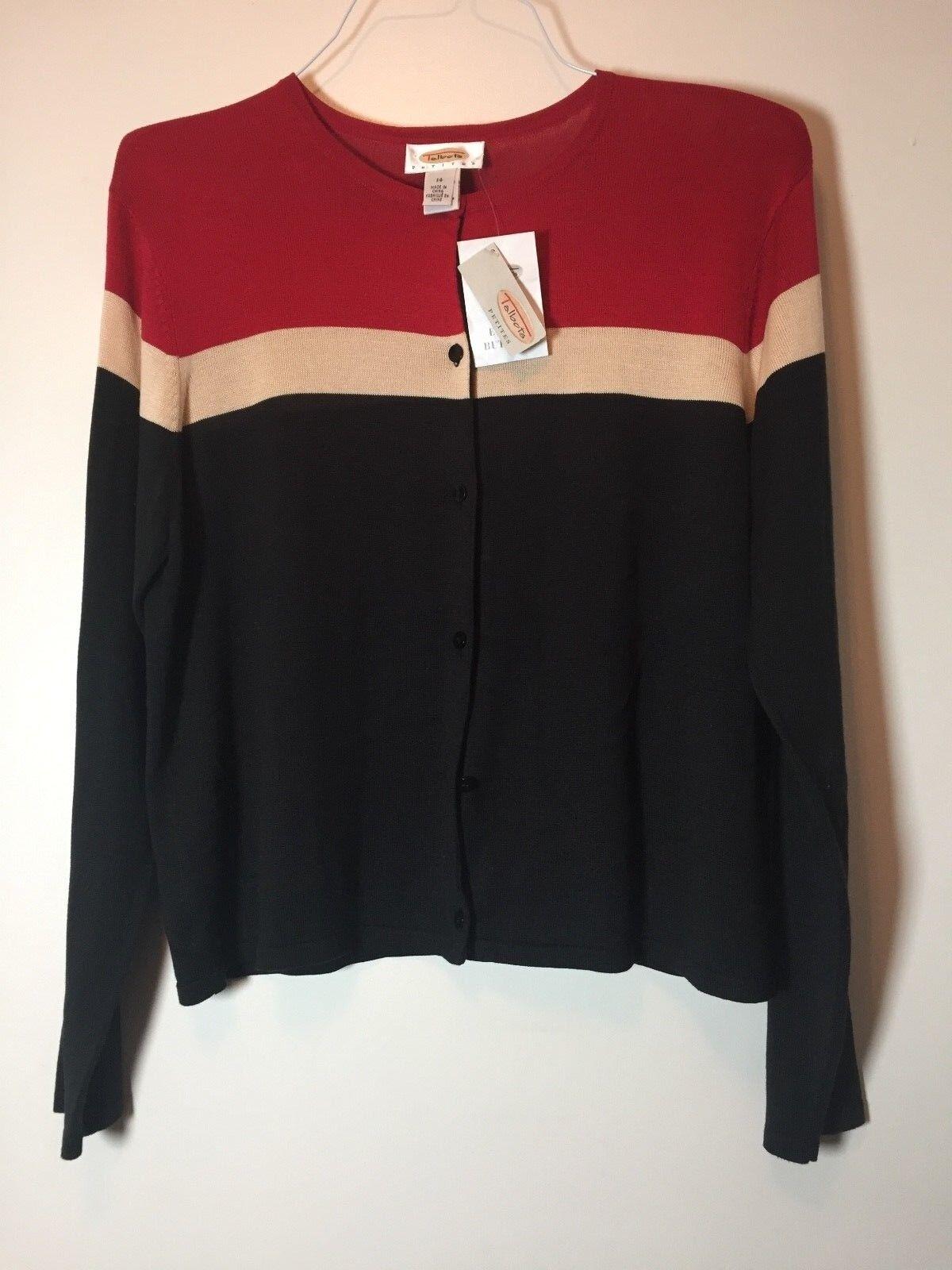 Talbots Petites Women's 100% Silk Cardigan size 14 NEW  178