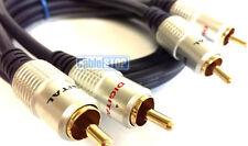 SDC 2m Twin 2 Rca Phono Plug A Plug Cable De Audio De Oro Con Pantalla De 2 Mtr estéreo Plomo
