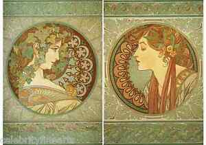e817d360fc0 Laurel   Ivy 2 Print Set Art Nouveau Deco Alphonse Alfons Mucha ...