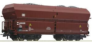Roco-H0-56332-Selbstentladewagen-mit-Kohleeinsatz-der-DB-NEU-OVP