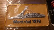 1976 MONTREAL OLYMPIC STADIUM VINTAGE ORIGINAL PATCH CREST IN ORIGINAL PACKAGING