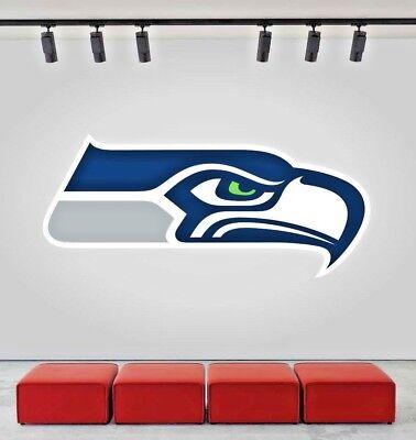 Seattle Seahawks NFL Wall Decal Sport Logo NFL Vinyl Home Decor Room