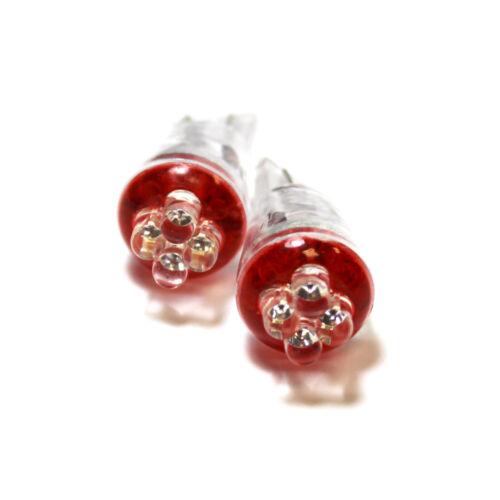 Vauxhall Zafira MK2//B Red 4-LED Xenon Bright Side Light Beam Bulbs Pair Upgrade