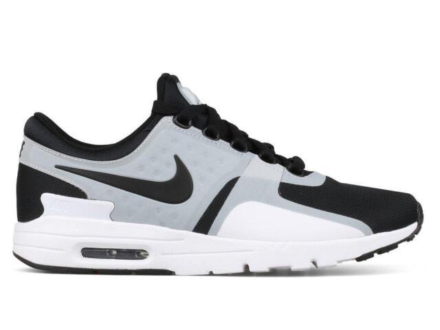 various colors 40415 1069b Womens Nike Air Max Zero White Black Running Trainers 857661 102