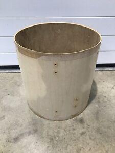 """Le Prix Le Moins Cher Tom Drum Shell 16"""" Bare Wood Project/restaurer-afficher Le Titre D'origine"""