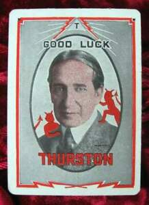 HOWARD-THURSTON-Magic-Throw-Out-Card-1930-039-s