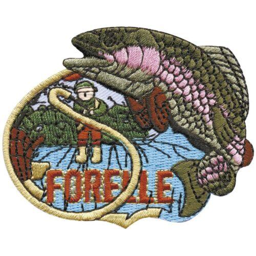 Patchs application stick emblème 7,5 x 6 cm poisson Angler forellle 04543