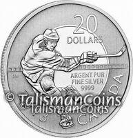 Canada 2013 $20 Commemorative Hockey NHL Sports Pure Silver Specimen Finish