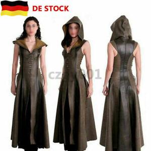 Sexy-Leder-Mittelalter-Ranger-Kleid-Erwachsenen-Cosplay-Halloween-Fancy-Kostuem