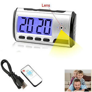HD Spy Alarm Clock Digital Video Recorder Hidden Nanny Cam Motion Detect DVR