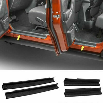4pcs ABS Door Sill Guard Scuff Plate Step Protector For Jeep Wrangler 2007-2016