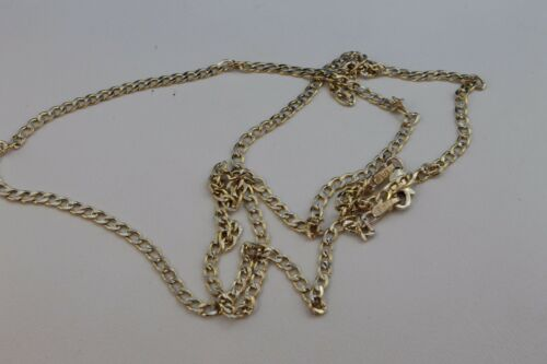 10K Yellow Gold Semi hollow Cuban Link Chain Diamond Cut 2.5mm