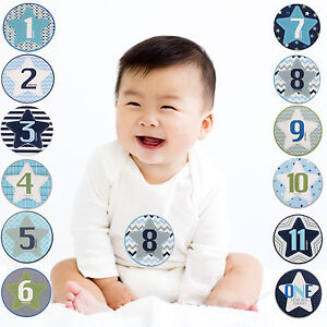 Age 0-12M Rising Star Milestone Photo Prop Two Sided Cards Gift Set Baby Girls
