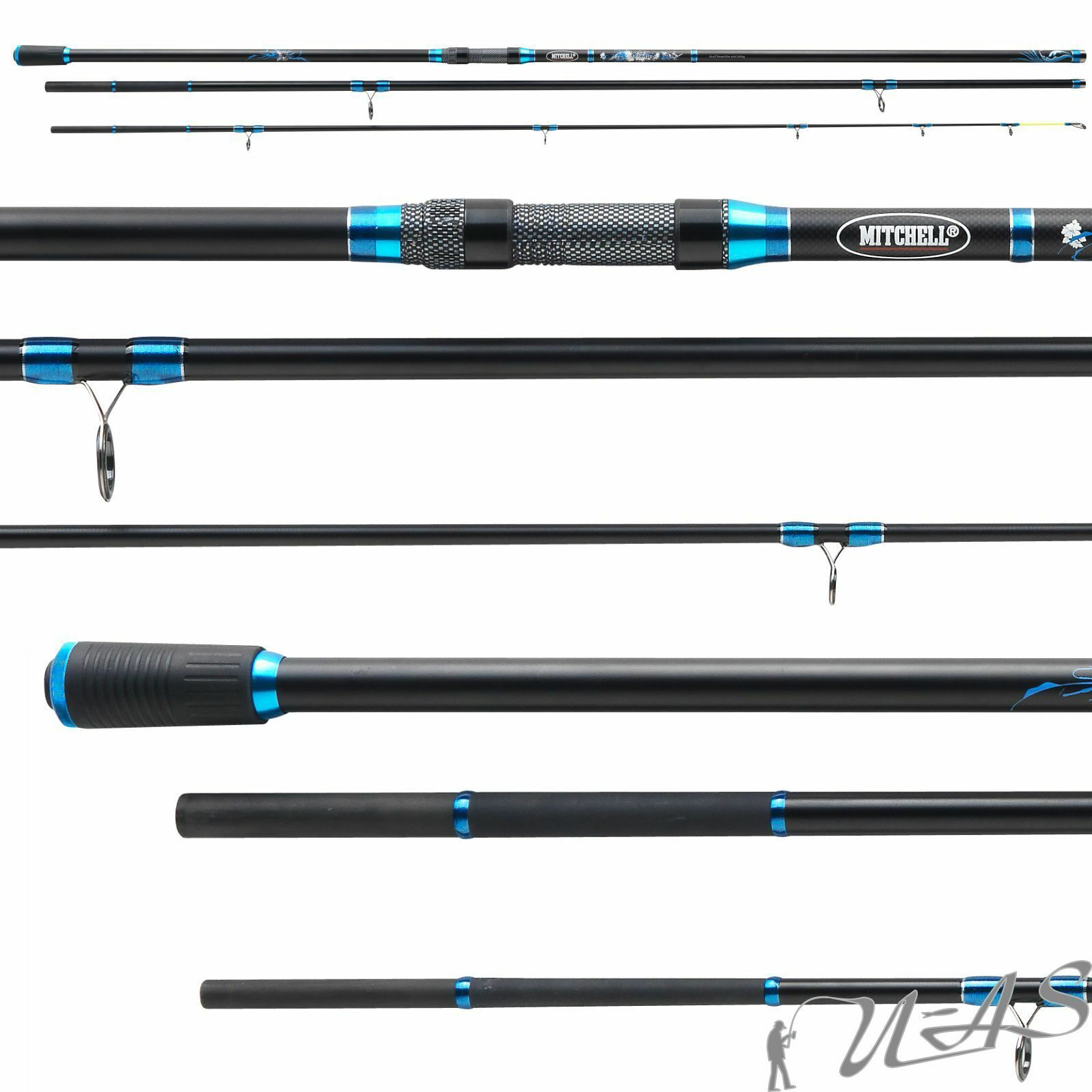 MITCHELL MAG PRO R SURF 4,50m 250g 2430t professionale Carbon Power increspature del mare stadia Ava