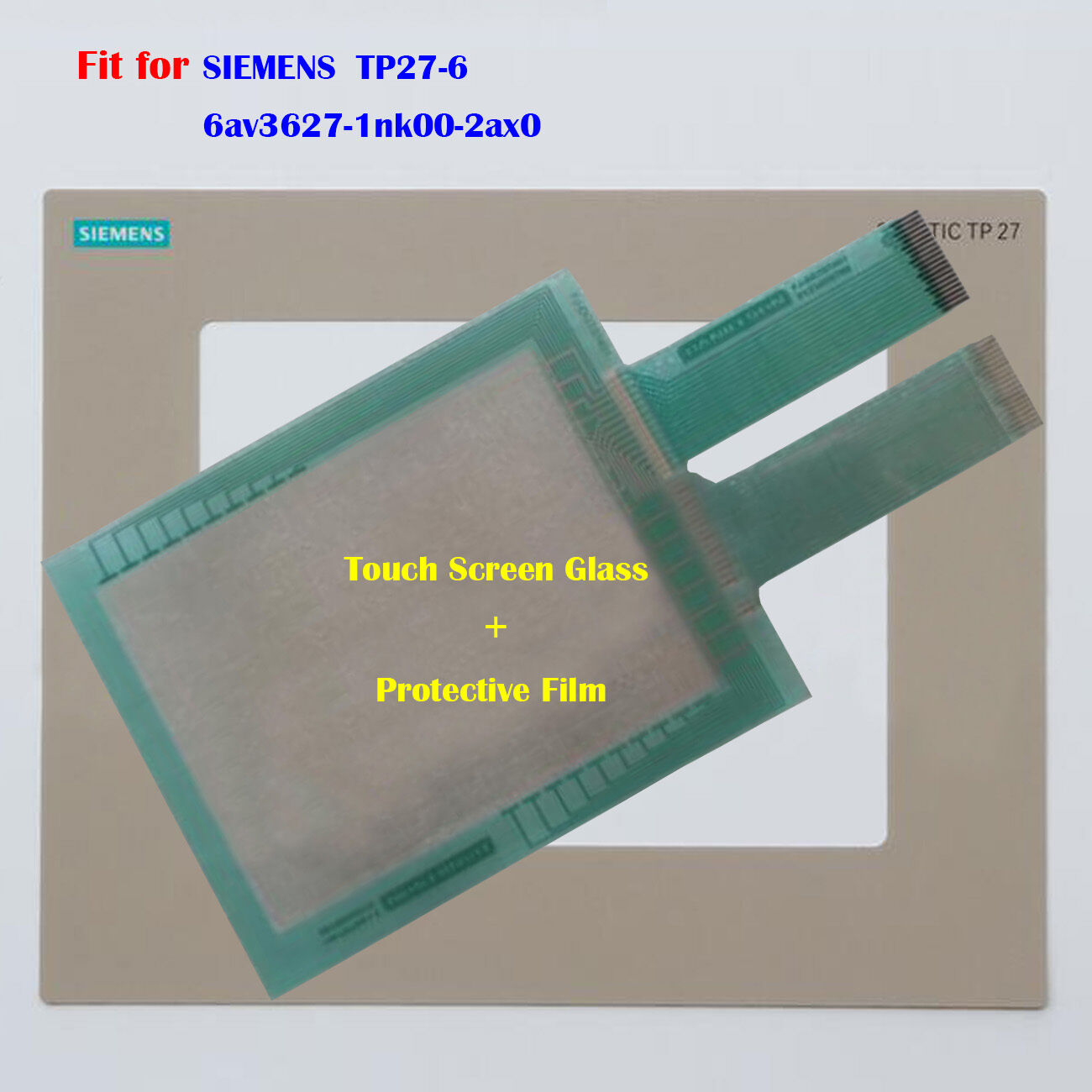 New For SIEMENS TP27-6 6av3627-1nk00-2ax0 Touch Panel Glass + Predective Film