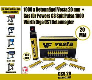 Betonnagel-in-allen-Lange-Gas-fur-Powers-C3-Spit-Pulsa-1000-Wurth-Diga-CS1