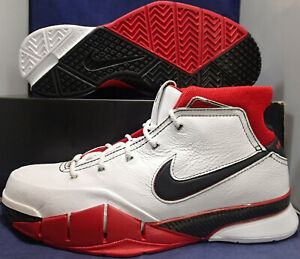 Nike-Kobe-1-Protro-All-Star-White-Black-Red-SZ-10-5-AQ2728-102